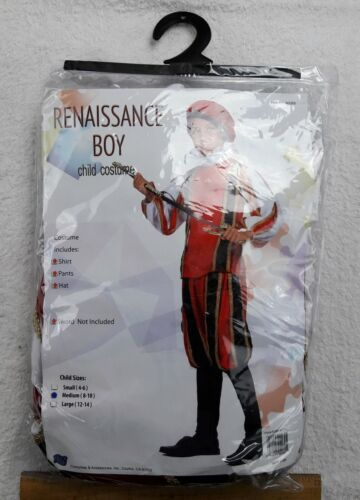 NEW, RG COSUTMES Renaissance Boy, Child Costume (Medium 8-10), #90069