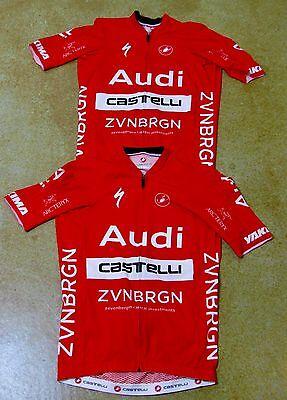 Audi Cycling Team Kit - Castelli - Men's Medium Lot of 2 Aero Jersey & Bib Short