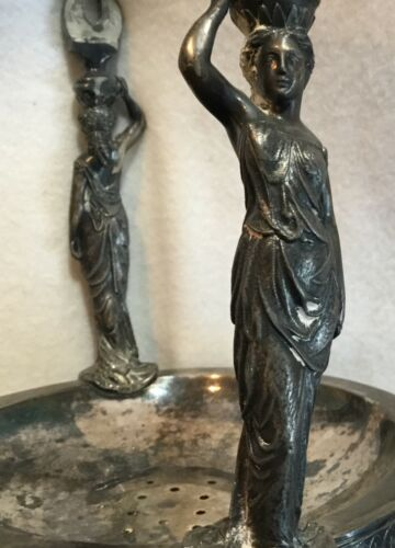 Antique Victorian Silverplate Reed & Barton Water Pitcher Full Figural Maidens