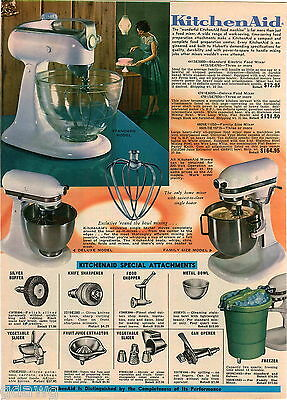 1968 ADVERT Kitchen Aid Electric Food Mixer 3 Models Kitchenaid Sunbeam Mixmaste