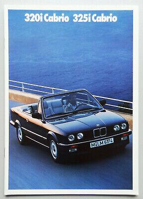 V12844 BMW SERIE 3 CABRIOLET 320i & 325i - CATALOGUE - 02/88 - A4 - NL