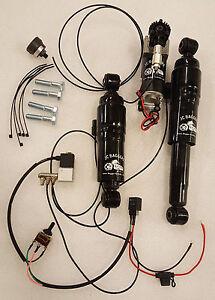 Adjustable Lowering Air Ride Harley Davidson touring Suspension Shocks Kit