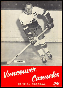 1962-63-VANCOUVER-CANUCKS-HOCKEY-WHL-PROGRAM-VS-SEATTLE-TOTEMS-UNMARKED-EX-NM