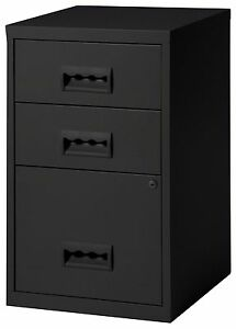 3-Drawer-A4-Filing-Cabinet-660H-x-400W-x-400D-mm-colour-black-3-draw