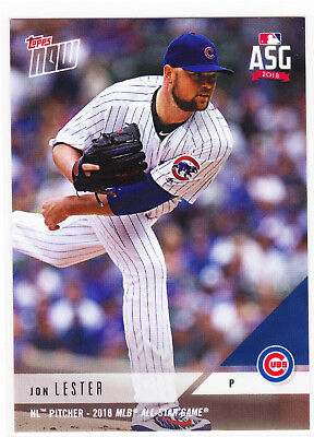 Jon Lester Chicago Cubs NL Pitcher MLB All-Star Game ASG 2018 Topps Now AS-36 (Jon Lester Pitcher)