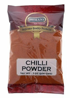 Hemani 100% Natural Red Hot Chili Powder 200gm / 7oz *US Seller* Free Shipping !