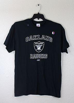- Oakland Raiders Black T-Shirt, Reebok Logo, Team Logo, M, L, XL, 100% Cotton