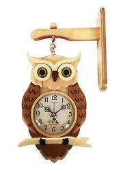A18KCAT035 Kaiser Two Sided Owl Clock