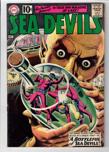 SEA DEVILS #2 - Grade 7.0 - Last 10 Cent Issue! Silver Age Russ Heath art!