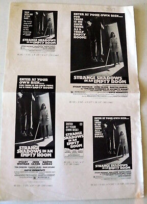 Strange Shadows in an Empty Room 1976 original press sheet 12x18 (2 sheets)