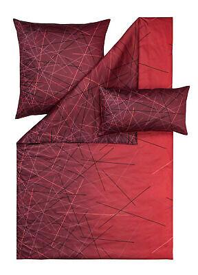 Estella Mako Satin Bettwäsche Oliver 140x200 + 70x90 cm in ziegel