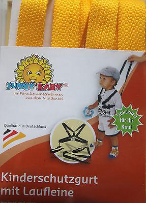 Sunnybaby Kinderschutzgurt Kinderwagengurt Sicherheit Nylon Gelb Lauflerngurt