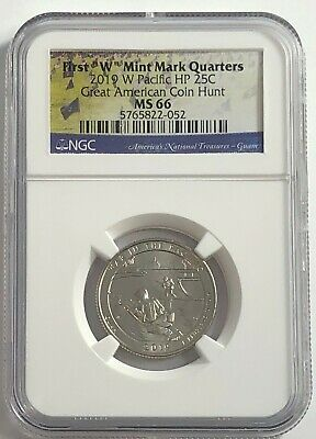 2019 W NGC MS66 GUAM QUARTER AMERICAN COIN HUNT WAR IN PACIFIC HP 25c