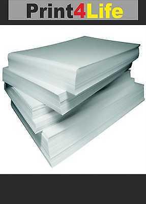 5 Bögen Visitenkarten Papier 85x54 mm mit je 10 Karten glatt für Laser Tinte