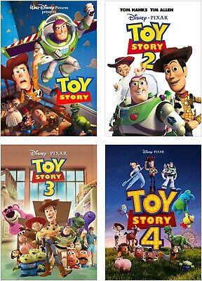 Large Poster Set - Toy Story Movie 1-4 Large Poster Art Print Set A0 A1 A2 A3 A4 A5 Maxi