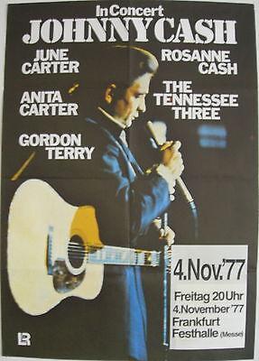 JOHNNY CASH CONCERT TOUR POSTER 1977 THE RAMBLER ROSANNE CASH