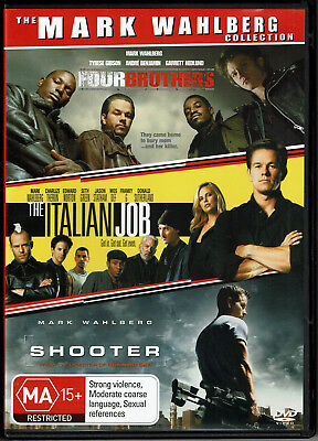 "Movies "" Four Brothers/The Italian Job/Shooter  ""  * Seller's Bargains  *"