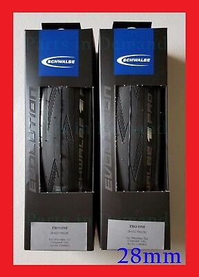 2019 Schwalbe PRO ONE Tubeless TL Clincher 700 x 28 PAIR 2 Road Bike Tire -