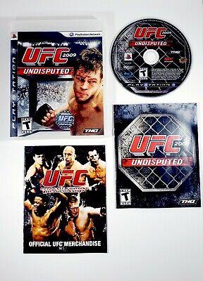 UFC Undisputed 2009 (PlayStation 3, PS3) Complete with Manual - Free Shipping, usado comprar usado  Enviando para Brazil