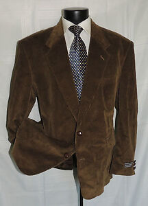 NWT David Taylor Brown corduroy with elbow patch  jacket 46 R
