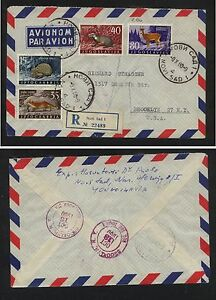 Yugoslavia-nice-registered-cover-to-US-FL0219