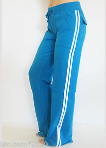 Women-Flare-Leg-Long-Fitness-Sweat-Pants-With-Side-Stripes-And-Back-Pockets