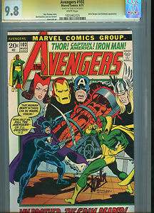 Avengers #102 CGC SS 9.8 Signed Stan Lee Iron Man Captain America Thor Signature