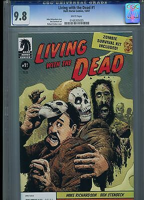 Living with the Dead #1 CGC 9.8 (2007) Dark Horse Zombie Single Graded Copy