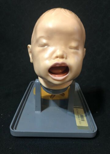 Vintage Armstrong Life Size Infant Intubation Training Anatomical Model AA-3200