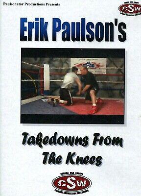 TAKEDOWNS FROM THE KNEES ERIK PAULSON DVD Training Set jiu Jitsu BJJ B320