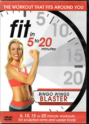 Fit In 5-20 Minutes - Bingo Wings Blaster (DVD, 2011) new / sealed!! - Fitness Bingo