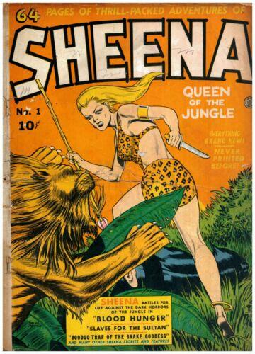 Sheena Comics #1 Golden Age Fiction House 2.0