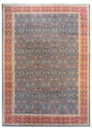 Handsome Hereke - 1940s Antique Turkish Palace Size Carpet 14 X 20 Ft