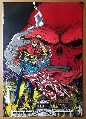 Amazing Spider-Man Vs Red Skull Marvel Comics Poster by Todd McFarlane