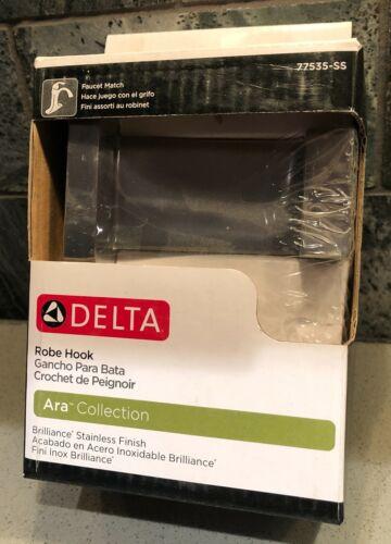 Delta Ara Collection Stainless Steel Robe Hook 77535-SS Bathroom Wall Door Towel