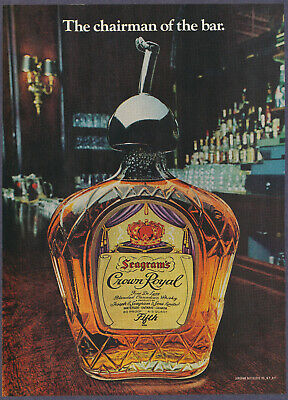 Seagram's Crown Royal Canadian Whisky Alcohol Liquor Vintage Print Ad 1976