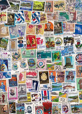 COSTA RICA - OLD 1960's 1970's 1980's 1990's COLLECTION >300 STAMPS - LOOK!