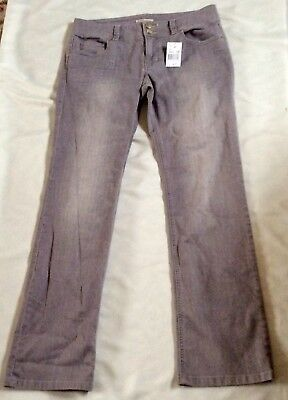 CAbi Women's Lou Lou Slim Straight Mid Rise Gray Wash Jeans Size 12 NWT for sale  Livingston
