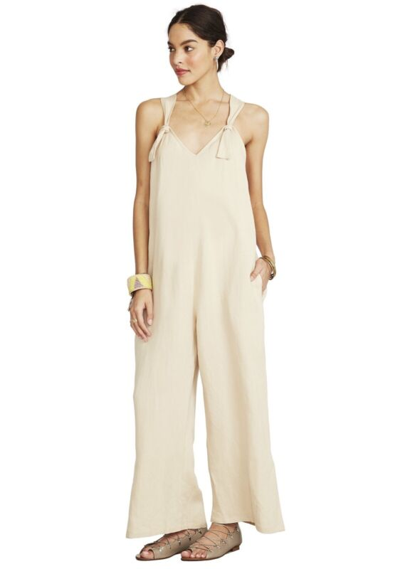 Hatch Maternity Women's THE NOA JUMPER Sand Linen Blend Size 2 (M/8-10) NEW