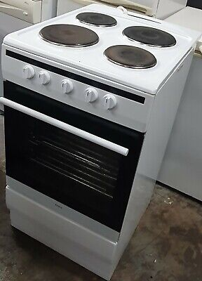 Amica 508EE1W 50cm Single Oven Electric Cooker With Sealed Plate Hob - White
