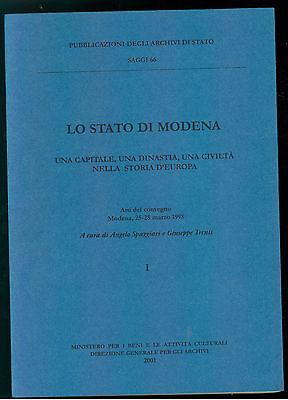LO STATO DI MODENA 2 VOLUMI MINISTERO BENI ATTIVITA CULTUALI 2001