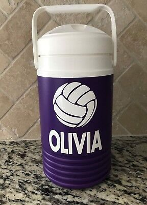 Personalized Plastic Water Bottles (Igloo Water Jug 1/2 Gallon Cooler Sports Baseball Football Custom Personalized)