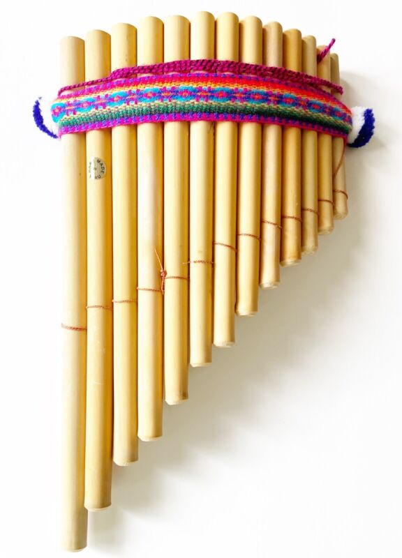 Artisan  Pan Flute From Peru Made It Of Bamboo For Beginners