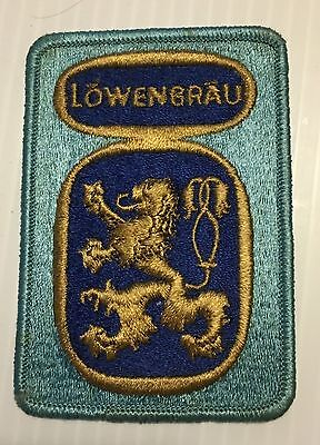 Lowenbrau Beer Patch Embroidered Ale 4-1/4 inch  Lion iron on