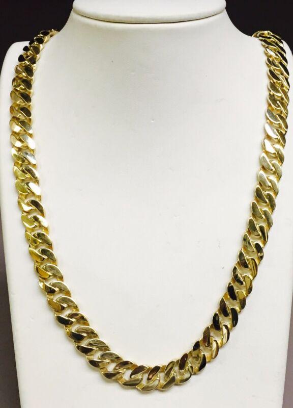 10k Solid Gold Handmade Curb Link Men