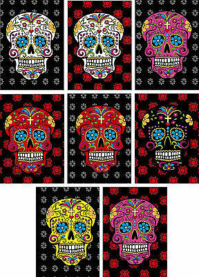 Halloween Day of the Dead flower sugar skull heads tags cards ATC scrapbook  ](Halloween Atcs)