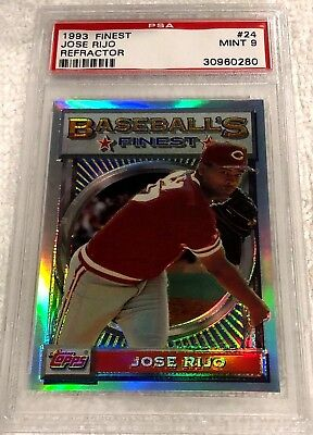 JOSE RIJO 1993 TOPPS FINEST REFRACTOR 24 PSA 9 MINT VERY RARE REDS - $112.50