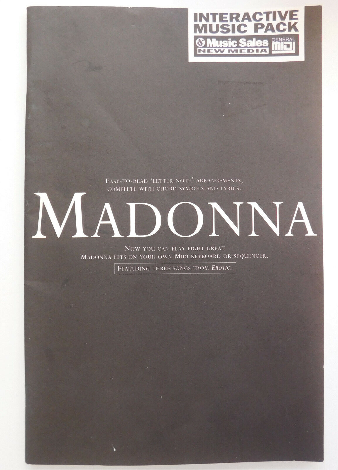 Madonna Midi Keyboard music book 8 songs Rescue Me Like a Virgin Rain BOOK ONLY