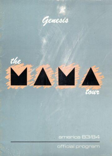 GENESIS-PHIL COLLINS1983/1984 MAMA U.S. TOUR-CONCERT PROGRAM BOOK-GOOD TO NMT