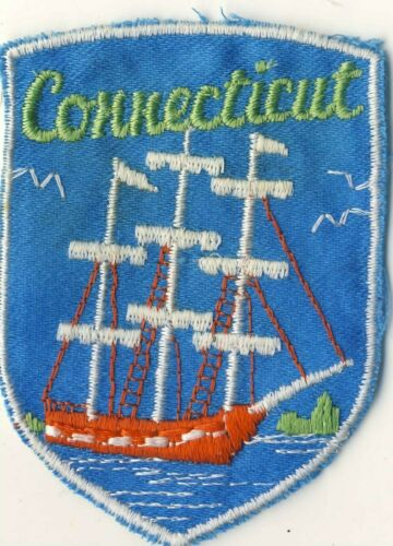 """CT Connecticut Merchant Ship Voyageur Souvenir Backpack 2.75"""" Patch"""